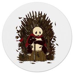 """Коврик для мышки (круглый) """"Игра жизни"""" - жизнь, панда, игра престолов, game of thrones, трон"""
