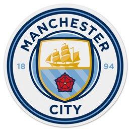 "Коврик для мышки (круглый) ""Манчестер Сити"" - mc, манчестер сити, мс, ман чити, manchester cuty"
