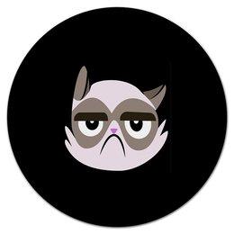 """Коврик для мышки (круглый) """" Котенок"""" - кот, животные, котенок, коты, мемы"""