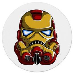 """Коврик для мышки (круглый) """"Iron Trooper"""" - комиксы, star wars, звездные воины, железный человек, ironman"""