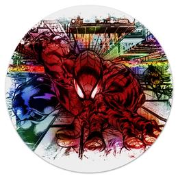 """Коврик для мышки (круглый) """"Pop Art"""" - арт, человек паук, марвел"""