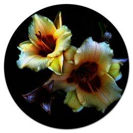 """Коврик для мышки (круглый) """"Лилии"""" - арт, цветы, фото, лилии"""