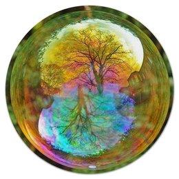 """Коврик для мышки (круглый) """"Фантазия"""" - радуга, дерево, фантазия, tree"""