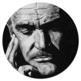 """Коврик для мышки (круглый) """"Sean Connery"""" - арт, стиль, bond, james bond, шон коннери"""