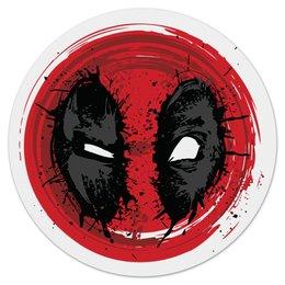"""Коврик для мышки (круглый) """"Crazy Deadpool"""" - комиксы, супергерой, марвел, убийца, дэдпул"""