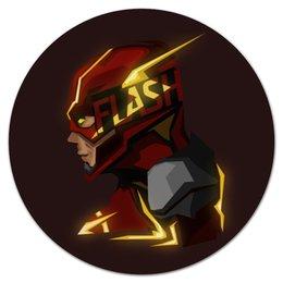 """Коврик для мышки (круглый) """"Flash"""" - flash, комикс, молния, скорость, флеш"""