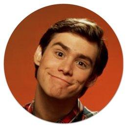 """Коврик для мышки (круглый) """"Jim Carrey"""" - movie, jim carrey, джим керри"""
