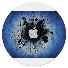 """Коврик для мышки (круглый) """"Apple"""" - популярные, прикольные, в подарок"""