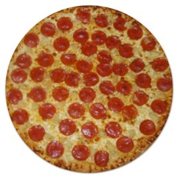 "Коврик для мышки (круглый) ""Pizza"" - в подарок, пицца, pizza, пепперони, pepperoni"