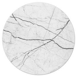 "Коврик для мышки (круглый) ""Мрамор"" - стиль, белый, интерьер, тренд, камень"