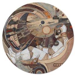 """Коврик для мышки (круглый) """"Окно в Бесконечность"""" - космос, фантастика, ракета, астронавт, космонавт"""