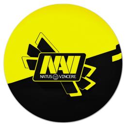 """Коврик для мышки (круглый) """"NAVI CS GO"""" - cs, counter strike, navi, go, cs go"""