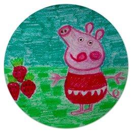 """Коврик для мышки (круглый) """"Свинка"""" - свинка"""