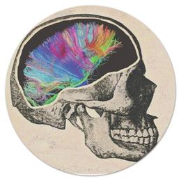 """Коврик для мышки (круглый) """"The 2nd law (muse)"""" - skull, череп, рок, muse, мьюз"""