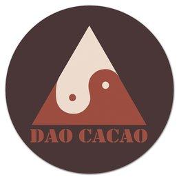 "Коврик для мышки (круглый) ""Дао Какао"" - it, какао, дао, дзэн"