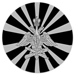 """Коврик для мышки (круглый) """"Герб России"""" - русский, патриот, россия, флаг, рф"""