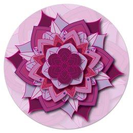 "Коврик для мышки (круглый) ""Круглый Sacred flower"" - визуализация, абстракция, мандала, нирвана"