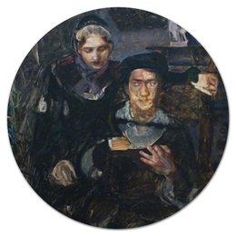 """Коврик для мышки (круглый) """"Гамлет и Офелия (картина Михаила Врубеля)"""" - картина, живопись, шекспир, литература, врубель"""