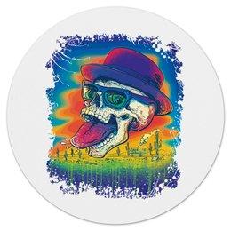 """Коврик для мышки (круглый) """"Skull Heisenberg"""" - череп, сериал, во все тяжкие, breaking bad"""