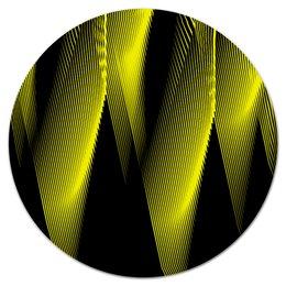 """Коврик для мышки (круглый) """"Абстракция"""" - узор, графика, абстракция, геометрия, линии"""