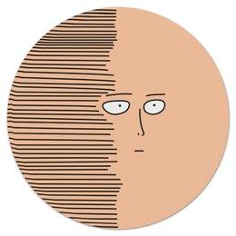 "Коврик для мышки (круглый) ""Сайтам"" - аниме, saitama, сайтама, one punch man, ванпанчмен"