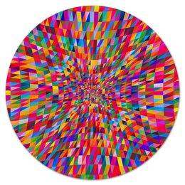 """Коврик для мышки (круглый) """"Абстракция треугольники"""" - графика, краски, абстракция, цветные, треугольники"""