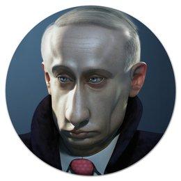 "Коврик для мышки (круглый) ""Президент"" - политика, президент, бизнес"