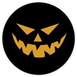 "Коврик для мышки (круглый) ""Хэллоуин"" - праздник, хэллоуин, страх, ужас, тыква"