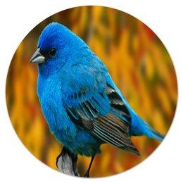 "Коврик для мышки (круглый) ""Птичка"" - животные, птица, птицы, angry birds, энгри бердз"