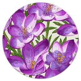"""Коврик для мышки (круглый) """"Цветы"""" - лето, тропики, природа, summer, цветы"""