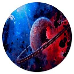 """Коврик для мышки (круглый) """"Планета"""" - звезды, планета, космос, созвездие, галактика"""