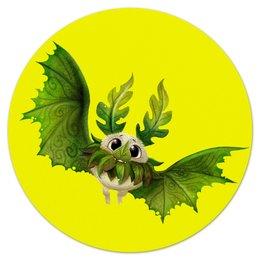 """Коврик для мышки (круглый) """"Сказочная летучая мышь"""" - мышь, рисунок, сказка, животное, летучий"""