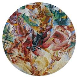 """Коврик для мышки (круглый) """"Коловращение судьбы (Умберто Боччони)"""" - картина, живопись, футуризм, боччони"""