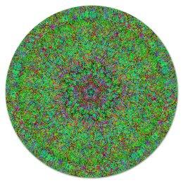 """Коврик для мышки (круглый) """"Бэкграунд Глитч"""" - зелень, бг, wax, глитч арт, баг"""