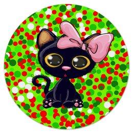 """Коврик для мышки (круглый) """"Кошечка"""" - кот, кошка, животные, коты, круги"""