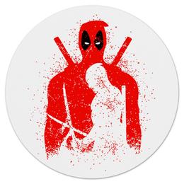 "Коврик для мышки (круглый) ""Deadpool"" - комиксы, marvel, deadpool, марвел, дэдпул"