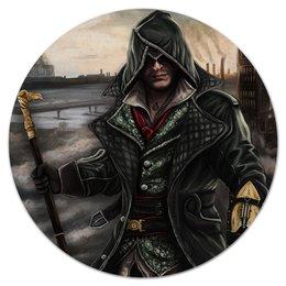 "Коврик для мышки (круглый) ""Assassins Creed"" - игры, assassins creed, ассасинс крид, кредо убийцы, компьютерные"