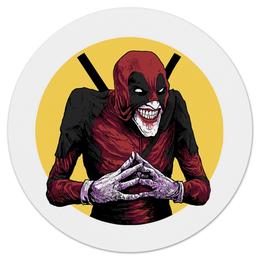 "Коврик для мышки (круглый) ""Deadpool Joker"" - комиксы, джокер, marvel, дэдпул"