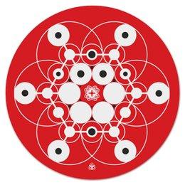 "Коврик для мышки (круглый) ""Молекула Духа "" - psy, фрактал, молекула, фракталы, marinanaber"