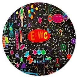 """Коврик для мышки (круглый) """"Химия"""" - знаки, символы, буквы, химия, формулы"""