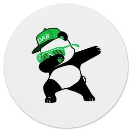 """Коврик для мышки (круглый) """"Dab Panda """" - животные, панда, panda, дэб, dab"""