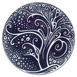 """Коврик для мышки (круглый) """"Сказочное дерево"""" - узор, природа, дерево, сказка, декоративный стиль"""