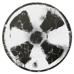 "Коврик для мышки (круглый) ""Логотип гранж"" - гранж, сталкер, stalker, тёмная душа"