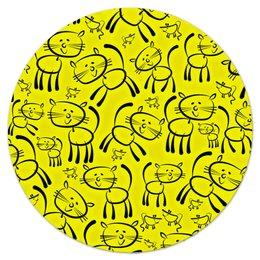 """Коврик для мышки (круглый) """"Котенок"""" - коты, котики, животные, cat, кошка"""