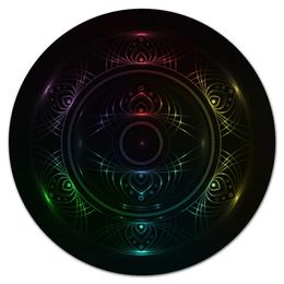 "Коврик для мышки (круглый) ""Rainbow mandala"" - арт, радуга, rainbow, мандала"