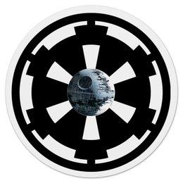 """Коврик для мышки (круглый) """"Символ Галактической Империи"""" - звездные войны, империя, дарт вейдер, звезда смерти"""