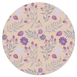"""Коврик для мышки (круглый) """"цветы"""" - лето, цветы, узор, природа, цветочки"""