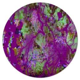 "Коврик для мышки (круглый) ""Пятна краски"" - узор, космос, пятна, краски, абстракция"
