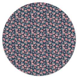 """Коврик для мышки (круглый) """"Цветы"""" - цветы, подарок, пионы, розы, цветочный"""