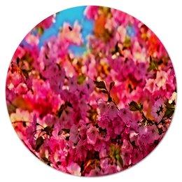 """Коврик для мышки (круглый) """"Весна"""" - весна, цветы, природа, деревья, пейзаж"""